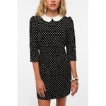 Black dress with white collar at Urban Outfitters