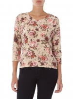 Floral sweater at Dorothy Perkins