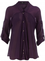 Purple button up blouse like Pennys at Dorothy Perkins