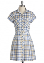Plaid dress at Modcloth