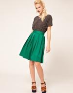 Green midi skirt like Lemons at Asos