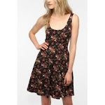 Black floral dress at Urban Outfitters