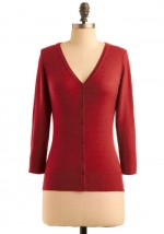 Red cardigan like Annies at Modcloth