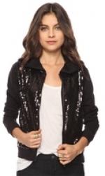 Black sequin jacket like Lemons at Forever 21