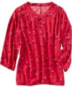 Patterned red blouse like Pennys at Oldnavy