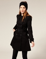 Black coat at Asos