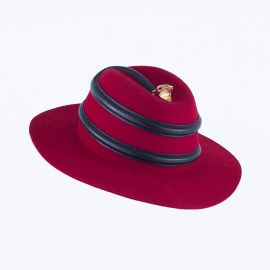 24k Boa Red/Black Hat by Youssef Lahlou at Youssef Lahlou