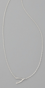 Silver wishbone necklace like Pennys at Shopbop