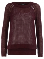 Dark red crochet top at Dorothy Perkins