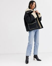 & Other Stories Faux Shearling Coat at Asos