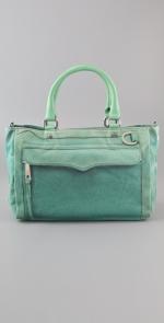 Aqua satchel bag like Janes at Shopbop