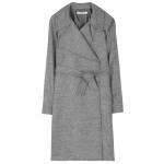 Grey wool trench coat at My Theresa