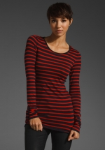 Red striped top like Pennys at Revolve
