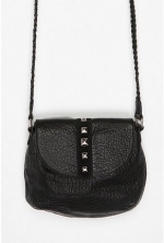 Studded black crossbody bag at Urban Outfitters