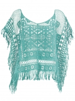 Green crochet top like Alexs at Dorothy Perkins