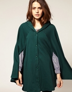 Green cape style jacket like Jane's at Asos