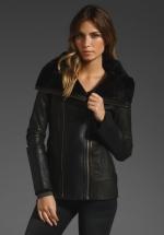 Black leather jacket like Alexs at Revolve