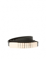Black belt with gold buckle at Asos