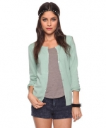 Mint green cardigan at Forever 21