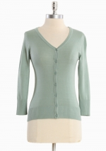 Light green cardigan at Ruche
