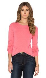 27 miles malibu Twiggy Cross Front Crop Sweater in Peach from Revolve com at Revolve