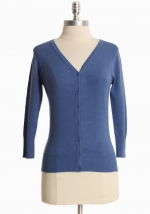 Simple blue cardigan at Ruche