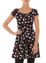 Black floral dress like Bernadettes at Dorothy Perkins