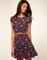 Black floral dress like Bernadettes at Asos
