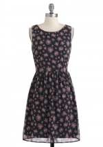 Black floral dress like Bernadettes at Modcloth