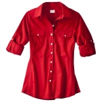 Red button down shirt like Pennys at Target