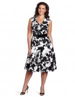 Black and white plus size dress like Shirleys at Amazon