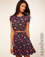Floral cap sleeve dress like Annies at Asos