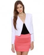 White open blazer like Janes at Lulus