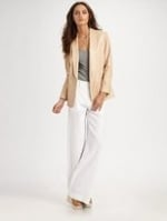 Cream leather blazer by Vince at Saks Fifth Avenue
