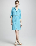 Robin's blue shirtdress on HIMYM at Neiman Marcus