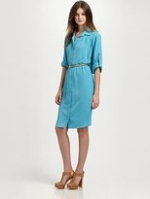 Robin's blue shirtdress on HIMYM at Saks Fifth Avenue