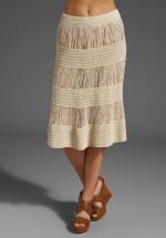 Lemon's cream block skirt at Revolve