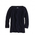Navy cable knit sweater like Brittas at J. Crew