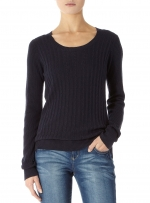 Navy cable knit sweater at Dorothy Perkins