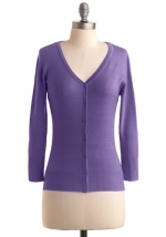 Purple cardigan at Modcloth