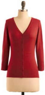 Rust colored cardigan like Annies at Modcloth