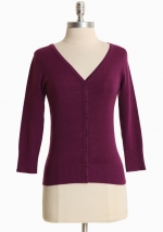 Simple purple cardigan at Ruche