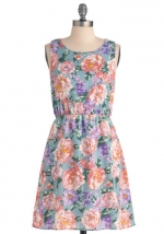 Flower print dress like Bernadettes at Modcloth