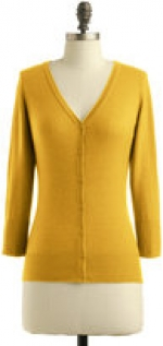 Yellow cardigan like Annies at Modcloth