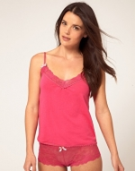 Pink cami top like Annies at Asos