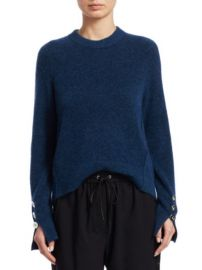 3.1 PHILLIP LIM - BUTTON SLEEVE WOOL SWEATER at Saks Fifth Avenue