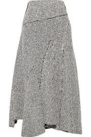 3 1 Phillip Lim - Asymmetric frayed boucl   midi skirt at Net A Porter