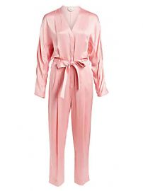 3 1 Phillip Lim - Belted Satin Jumpsuit at Saks Fifth Avenue