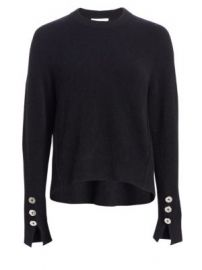 3 1 Phillip Lim - Button Sleeve Wool Sweater at Saks Fifth Avenue