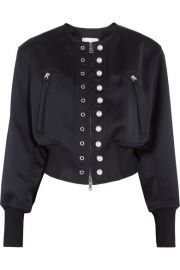 3 1 Phillip Lim   Faux pearl-embellished satin-jersey bomber jacket at Net A Porter